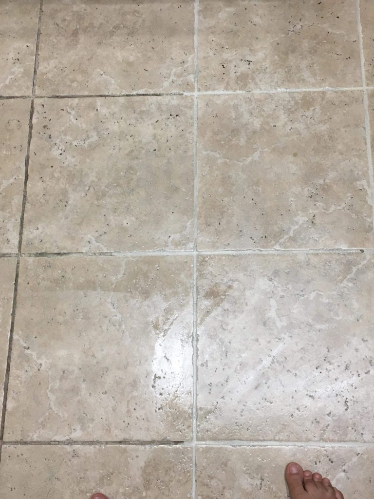 cleaning tile grout easily
